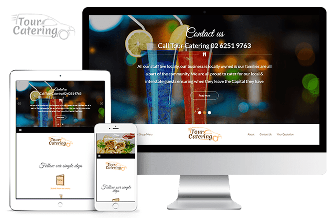 Tour Catering Online Menu and Catalog Web Design and Development ...